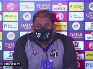 """CEARÁ: Guto explica substituições no empate contra o Arsenal pela Sul-Americana: """"com essas trocas crescemos na partida"""""""