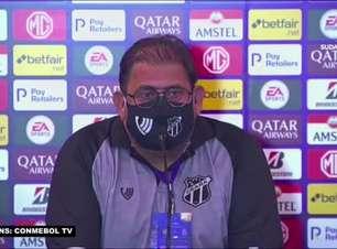 """CEARÁ: Guto garante que empate pela Sul-Americana não tem relação com vice da Copa do Nordeste: """"Viramos a chave e isso já passou"""""""