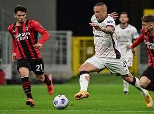 Milan empata em casa com o Cagliari e se complica na briga por Champions