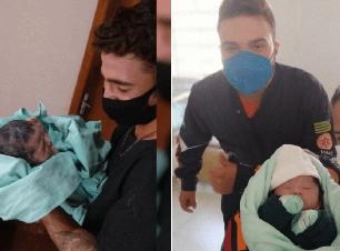 Bebê chega antes do esperado e pai faz o parto em casa