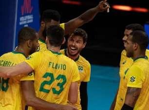 Com autoridade, Brasil faz 3 a 0 nos EUA e vence a segunda na Liga das Nações