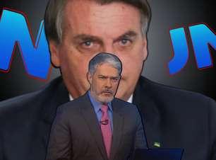 Afiado, Bonner reage a deboche de Bolsonaro e o contesta