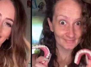 Influencer viraliza após perder os dentes na gravidez