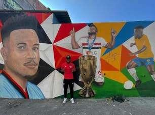 Luan é homenageado com grafite em comunidade na Zona Oeste de São Paulo