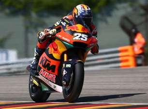 Raúl Fernández supera recorde da Alemanha e crava pole na Moto2. Gardner é terceiro