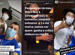 Brasileiro que 'furou' bolha da seleção chilena tira onda
