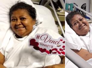 Mulher recebe alta após 6 meses internada por Covid-19