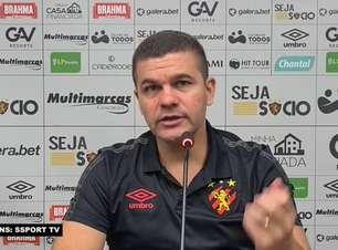 """SPORT: Umberto Louzer fala sobre o empate contra o Santos e avalia: """"Saímos satisfeitos com o resultado"""""""