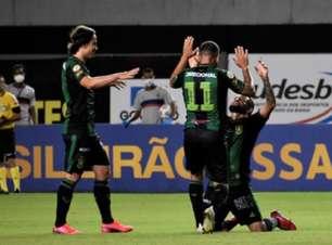Veja os gols da vitória do América-MG sobre o Bahia em Salvador