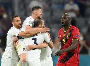 Em grande jogo, Itália vence a Bélgica e vai à semi da Euro