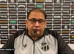 """CEARÁ: Guto Ferreira vê equipe 'tomar conta do jogo' desde o primeiro tempo e destaca agressividade ofensiva no segundo tempo: """"Viemos a mil em busca do gol"""""""