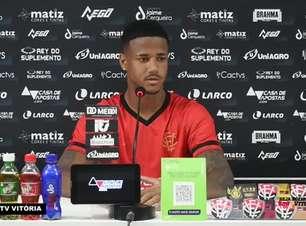 """VITÓRIA: Ygor Catatau vê equipe 'no caminho certo' e mostra confiança para dar fim a má fase: """"Vamos sair dessa o mais rápido possível"""""""