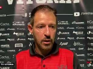 """VITÓRIA: Ramon destaca ritmo de jogo imposto pela equipe no empate contra o Confiança, mas lamenta: """"Infelizmente não conseguimos sair com o resultado positivo"""""""