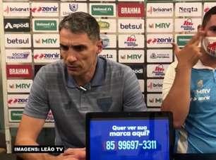 """FORTALEZA: Vojvovda vê equipe madura em vitória sobre o Corinthians e avalia: """"Soubemos defender o resultado"""""""
