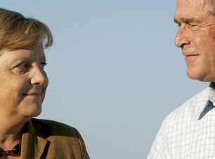 Merkel é uma mulher sem medo de liderar, diz George W. Bush