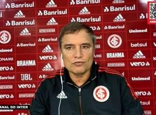 """INTERNACIONAL: Aguirre lamenta derrota para o Athletico-PR e mostra expectativa para as próximas partidas: """"Temos que dar mais e conseguir o resultado"""""""