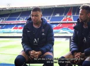 Neymar e Mbappé negam disputa por Bola de Ouro no PSG