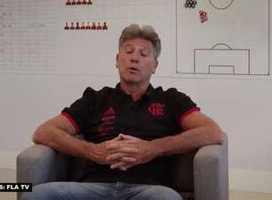 """FLAMENGO: Renato Gaúcho defende retorno do público aos estádios e exalta papel da torcida para o clube: """"É o 12º jogador"""""""