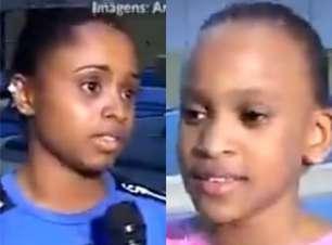 Matéria de 2009 mostra Rebeca ao lado de Daiane dos Santos