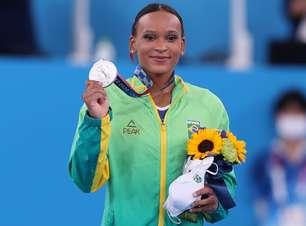 Rebeca Andrade conquista a medalha de prata na ginástica