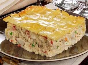Torta de massa de pastel pronta em 50 minutos