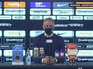 """CORINTHIANS: Sylvinho reconhece incomodo por sequência sem vencer em casa, mas promete: """"Vamos trabalhar para melhorar nossas atuações"""""""