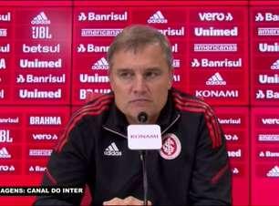 """INTERNACIONAL: """"Jogamos mal e não merecíamos a vitória"""", avalia Aguirre após novo resultado negativo em casa com o empate sem gols contra o Cuiabá"""
