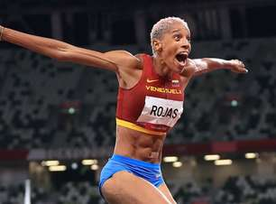 Venezuelana Yulimar Rojas leva medalha de ouro no salto triplo com recorde mundial
