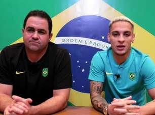 SELEÇÃO MASCULINA: Antony conta que vibra com medalhas do Brasil em Tóquio