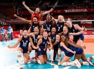 EUA vencem Sérvia e pegam Brasil ou Coreia na final do vôlei