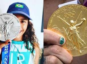 """Olimpíadas: Veja os atletas que levaram o sonho do pódio para as """"nail arts"""""""