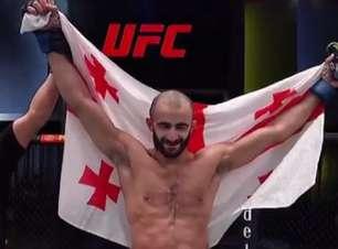 No duelo de trocação, Giga Chikadze nocauteia Edson Barboza no UFC Vegas 35; Turman volta a triunfar