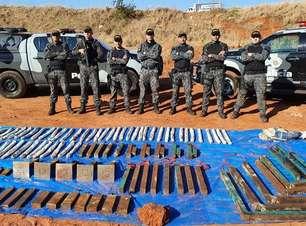 Polícia encontra 100 quilos de explosivos em Araçatuba