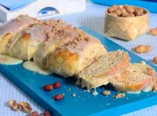 Pão doce de paçoca saboroso