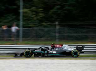 Bottas supera Hamilton e largará na frente em corrida sprint