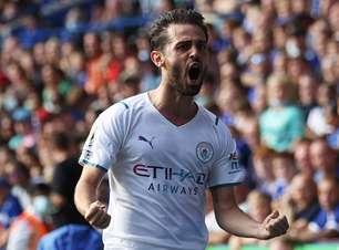 Com gol de Bernardo Silva, Manchester City vence o Leicester