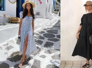 Midi e longo: confira a versatilidade e elegância desses vestidos