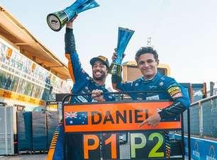 """Norris sobre dobradinha da McLaren na F1: """"não foi sorte"""""""