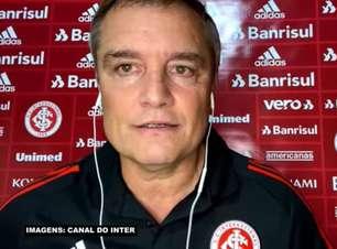 """INTERNACIONAL: Aguirre não vê 'jogo fluído' em vitória sobre o Sport, reconhece críticas, mas comemora: """"Conseguimos o objetivo dos 3 pontos"""""""