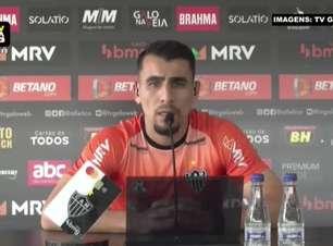 """ATLÉTICO-MG: Junior Alonso valoriza vantagem sobre o Fluminense, mas espera dificuldade no jogo de volta: """"Ninguém garante que vai ser fácil"""""""