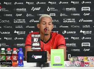 """VITÓRIA: Maykon Douglas fala sobre oportunidades no profissional e a final do Baiano Sub-23: """"Ba-Vi é sempre bom, e muito melhor ganhar..."""""""