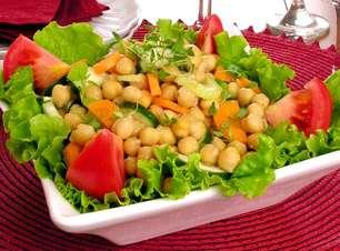 Receitas de salada de grão-de-bico deliciosas