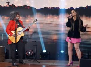 """Juliette e Chico César fazem dueto no programa """"Altas Horas"""""""