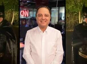 Apresentador da CNN se fantasia de Batman para fazer alerta