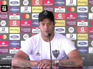 """ATLÉTICO-MG: """"Não pegar essa responsabilidade para gente"""", diz Hulk sobre declarações de Abel Ferreira antes de semi na Libertadores"""