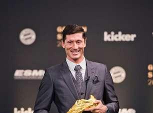 Lewandowski recebe a Bola de Ouro, mas exalta Messi e CR7