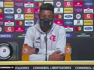 """FLAMENGO: Bruno Henrique destaca que time tentou o tempo todo marcar mais gols, cita boa vantagem e alerta contra o Barcelona: """"não tem nada ganho"""""""