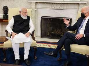 """Biden conversa sobre familiares com premiê da Índia e pergunta: """"somos parentes?"""""""