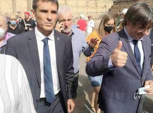 'Me sinto em casa', diz ex-líder da Catalunha em cidade italiana
