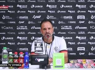 """VITÓRIA: Sem Marcinho para o jogo contra o Botafogo, Wagner Lopes garante mexida no ataque: """"Vou tentar algo diferente"""""""